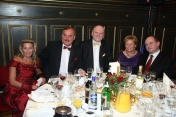 With the Major of Toruń, his Wife and the Speaker of the Kujawsko-Pomorskie Province, the host of the First Charity Ball, Toruń, Artus' Hall, February 2010
