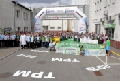 Opening the Nestle Continuous Excellence gate in Cereal Partners Poland plant in Toruń, April 2011