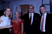 With Pierre Detry, Nestle Polska CEO, and his wife at the Christmas Dinner at Nestle Poland, Dec. 2011