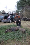 Hunting for wild boar, Dec. 2013