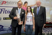 With Agnieszka Skalniak, juniors cycling European champion in time trial, and Toruń City Mayor, Michał Zaleski, December 2015