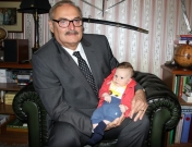 With a grandson Maks, spring 2013