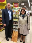 Dave Homer CPW CEO at store check with Agnieszka Pyrzewska, CPP VP and Commercial Dir., March 2017