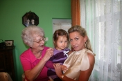 Nina with her Grandmother and Great-grandmother, summer 2008