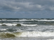 The stormy Baltic Sea in winter 2009
