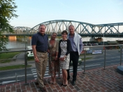 With Leo Wencel, President of Nestle Polska, and his wife during a walk around the Old Town in Toruń