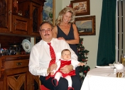 Grandparents together with the apple of our eyes - the granddaughter Nina Melania, Christams Eve of 2006